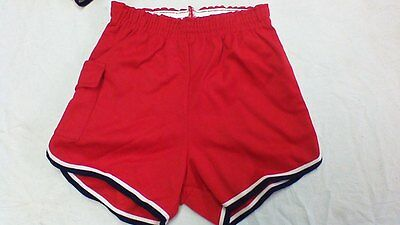 Vintage Russell Athletic shorts with runners pocket on side usa made red/white