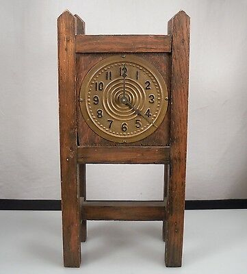 Antique Arts & Crafts Wood Clock