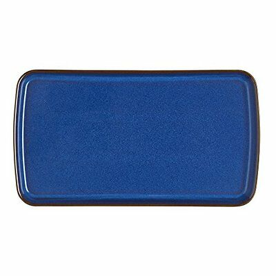 Denby Imperial Rectangular Plate, Blue
