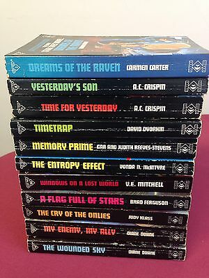 The New Star Trek Novel Books Bundle. X11. Titan Books. Vintage.