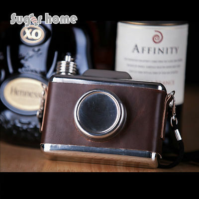 Camera Shape 11 oz Food Safe Stainless Steel Hip Flask Alcohol Liquor Whiskey