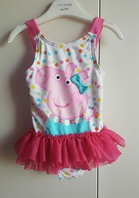 peppa pig swimming costume age 9-12 months