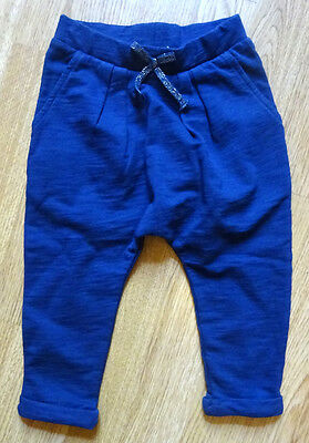 Next Navy Soft Trousers Age 9 ~ 12 Mths Bnwt