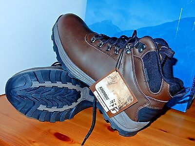 NEW Khombu Men Brown Leather Work Boots Waterproof Hiking Ravine Size 11