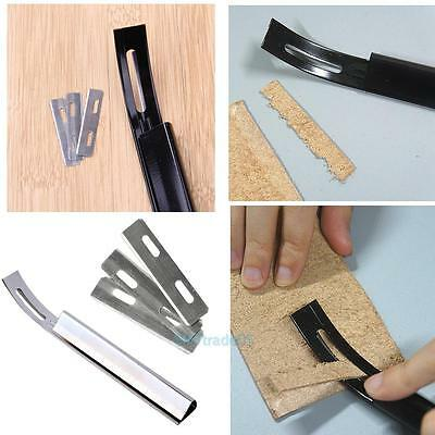 Steel Safety Skiver Beveler Thinning Leather Craft Blade DIY Folds Seams ToolS
