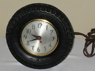 Goodyear Tire Advertising Vtg Electric Clock 1950's Sessions Movement Farm Decor