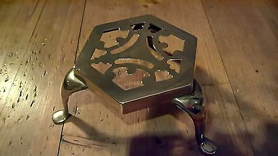 Vintage Brass Pot Trivet - Query 19th Century