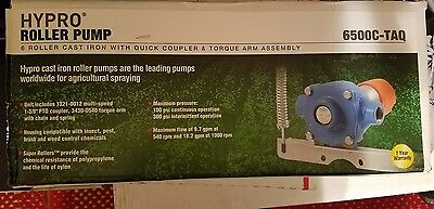 Hypro 6 Roller Pump, Cast Iron with Quick Coupler and Torque Arm Assembly, 6500C