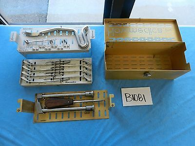 Stryker Howmedica Surgical Orthopedic Extractor Driver Instrument Set W/ Case