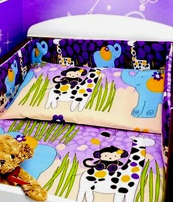 Brand New Cot Bumper Quilt & Pillowcase Set