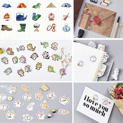 45 Pcs/lot Cartoon Stickers Envelope Seal DIY Diary Album Stick Label + Gift Box