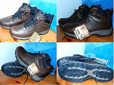 NEW Khombu Men Brown Leather Work Boots Waterproof Hiking Ravine Size 9