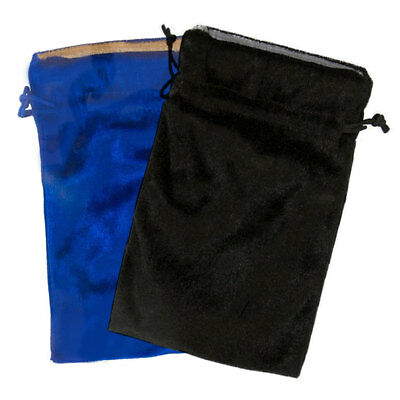 """NEW Blue and Black Velvet Bag Duo 5x7"""" Two Bags for Tarot, Runes or Dice Lined"""