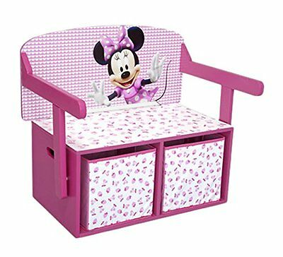 Disney Minnie Mouse Convertible Toy Box  Desk