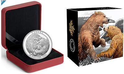 Canada Grizzly Bear: The battle $20 1 oz. Proof 99,99 % Fine Silver Coin  (2016)