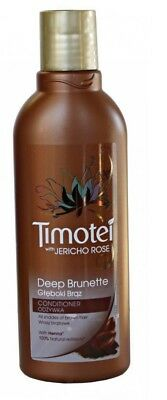 3 x 200ml Timotei Conditioner With Jericho Rose & Henna  - Deep Brunette