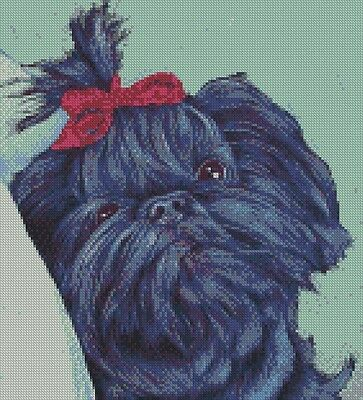 Cross Stitch Chart - Kit Shih Tzu Dog 7