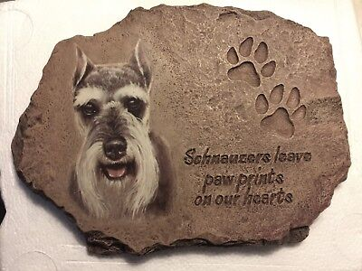 """""""Schnauzers Leave Paw Prints in our Hearts"""" Plate w/COA by Linda Picken"""
