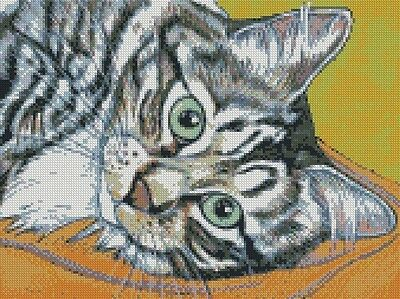 Cross Stitch Chart - Kit Tabby Cat 4