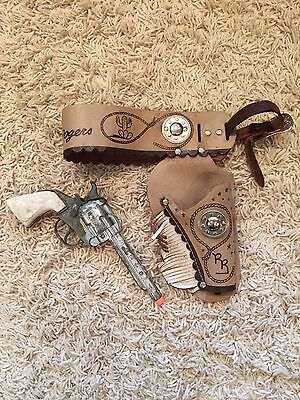 1950s Roy Rogers Cap Gun With Holster Extremely Rare