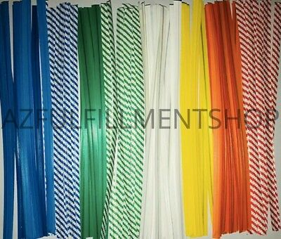 """2000 Twist Ties 4"""" Length Plastic Coated Paper No Rip Cellophane Assorted Colors"""