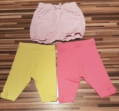 NEW / USED Girls Summer Shorts and cropped leggings 1-1.5 years / 12-18 months