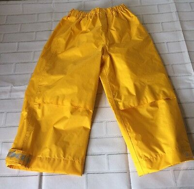 REI TotA Toddler Yellow Waterproof Rain Pants Kids Boys Girls Size: 3T