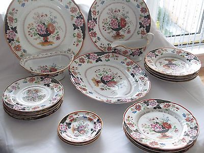 Rare Large 19th Century Russian Dinner Service Popov Factory Circa 1860 Moscow