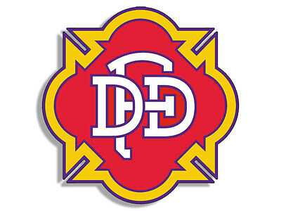 4x4 inch DALLAS FIRE DEPT Maltese Shaped Sticker -logo dfd firefighter texas  tx