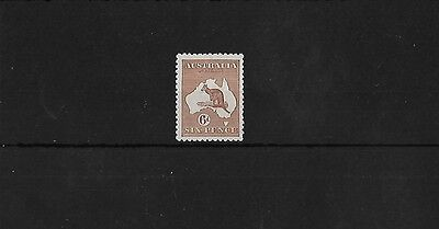 AUSTRALIA SG73, 6d CHESTNET MOUNTED MINT, CAT £28