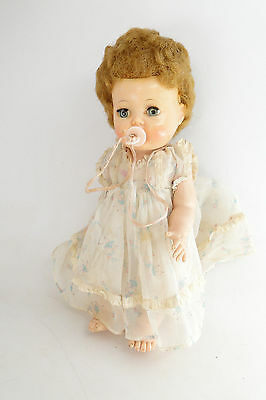 Vintage 1950's Tiny Tears Doll Molded Head, Rubber Body