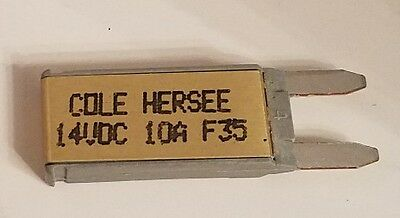 Cole Hersee Co Mini Blade Circuit Breaker 30419-10 14VDC 10A NOS