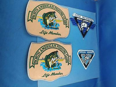 North American Fishing Club Life Member Patches Badges Stickers Lot Of 4