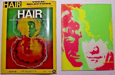 HAIR Musical Vocal Selections Book + Program from Chicago Production '69/'70