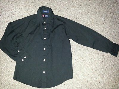 CHAPS Black Long sleeved Button Front Shirt Boys Size 8 BTS