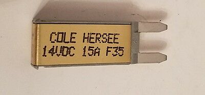 Cole Hersee Co Mini Blade Circuit Breaker 30419-15 14VDC 15A NOS