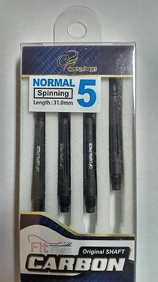 COSMO FIT CARBON NORMAL SPINNING #5 SHAFTS (4 pack) 31mm  FOR FIT FLIGHTS ONLY