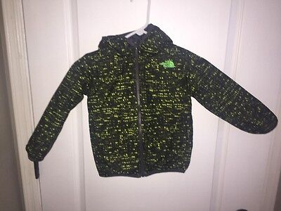 The North Face Boys' Reversible Perrito Jacket- Size 4 R - Grey and Green