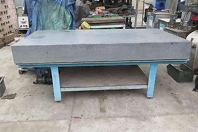 """96"""" x 48"""" x 10""""  Granite Surface Inspection Plate 8' x 4'"""
