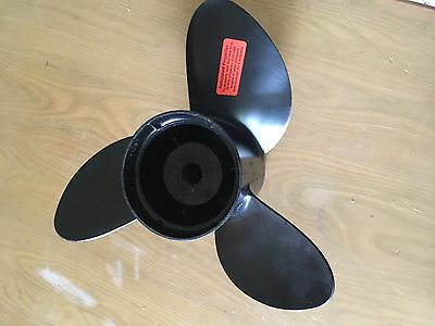 Clean Barely Used OMC 3 Blade Stainless Steel Outboard Propeller Prop 15 X 17