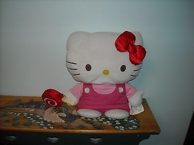 """HELLO KITTY Large PLUSH DOLL 18"""" with Lollipop 2014 RARE"""
