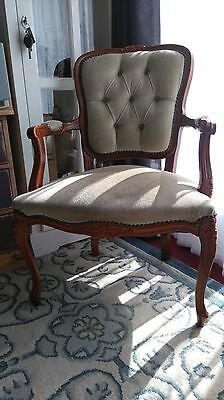 French Louis Style Chair,lovely quality, good condition light Green