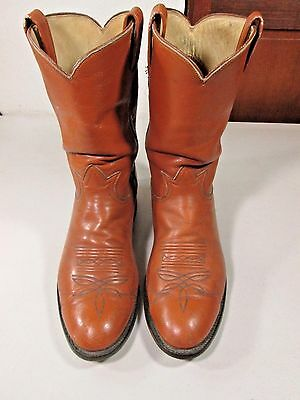 Tony Lama Men's Leather Cowboy Western  Boots size 10.5 D Made in USA