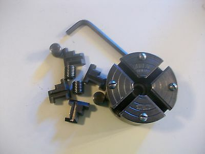 """4 Jaw Independent Chuck 1/2"""" X 20 TP From Sears Dunlap 6"""" Metal Lathe #109-0703"""