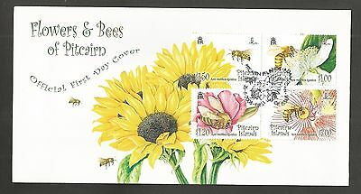 Pitcairn Islands 2008 Flowers & Bees Fdc Sg,763-766 Lot 4503A