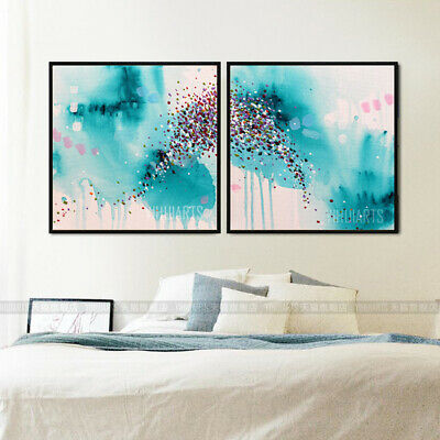 Hand-Painted Oil Painting - Dissolve Set | Modern Abstract Decor Unframed Wall A