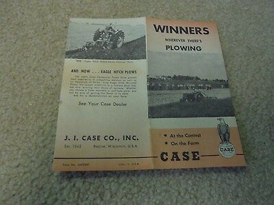 Vintage J. I. Case Winners plowing Brochure