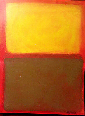 Mark Rothko Abstract Painting, Original Art, Signed Painting, Abstract Artwork