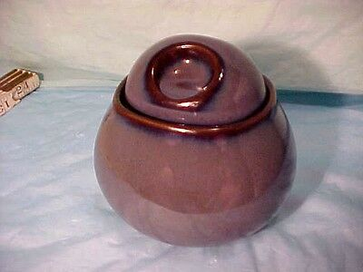 "Sango Nova Grey Blue Purple Sugar Bowl With Lid Nice Condition Approx 4 1/4"" T"
