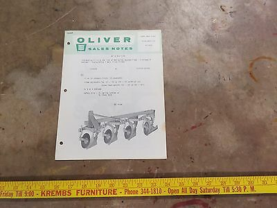 Oliver Introduction 360 series mounted plows Brochure